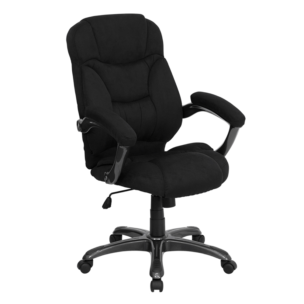 Offex High Back Black Microfiber Upholstered Contemporary Office Chair
