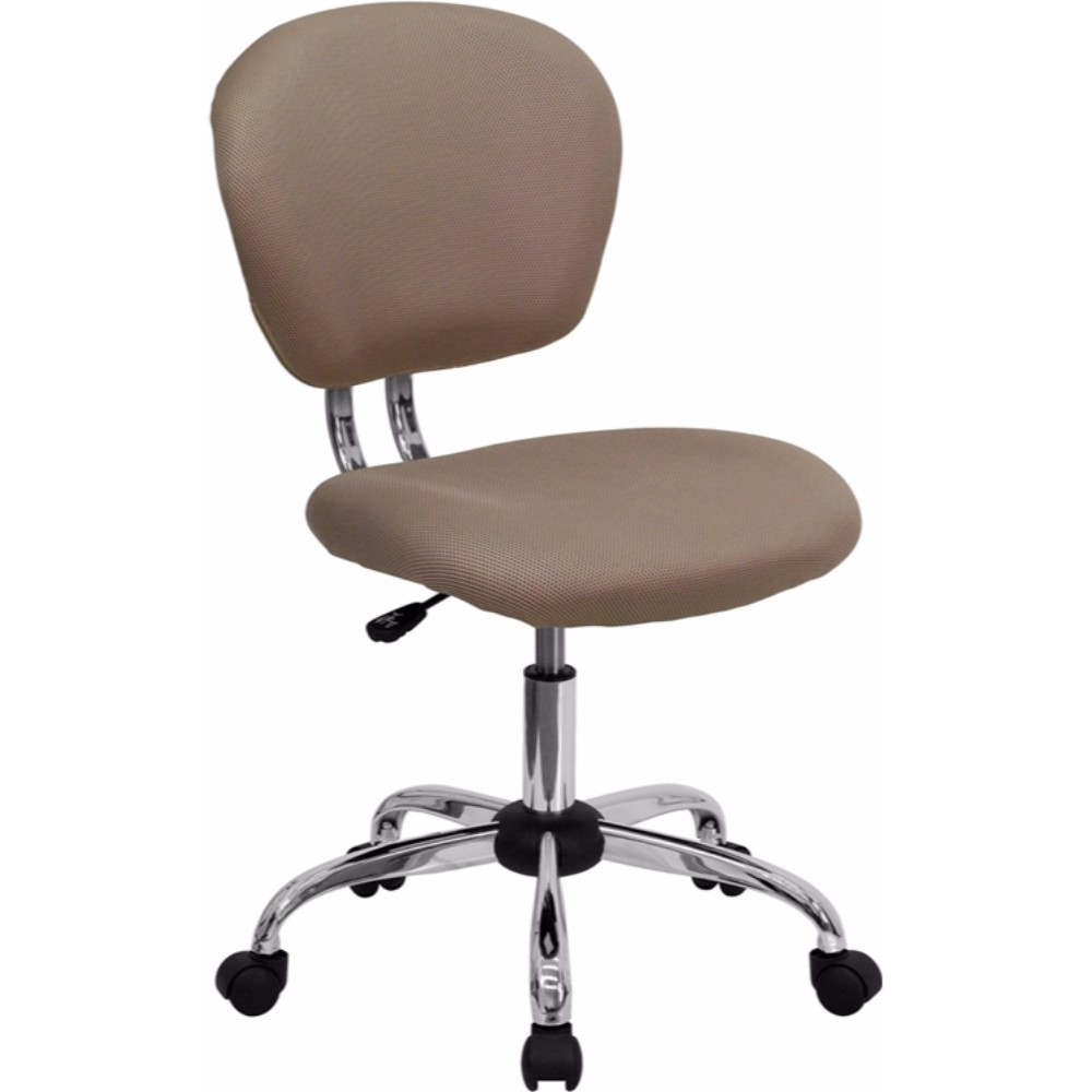 Offex Mid-back Coffee Brown Mesh Task Chair with Chrome Base
