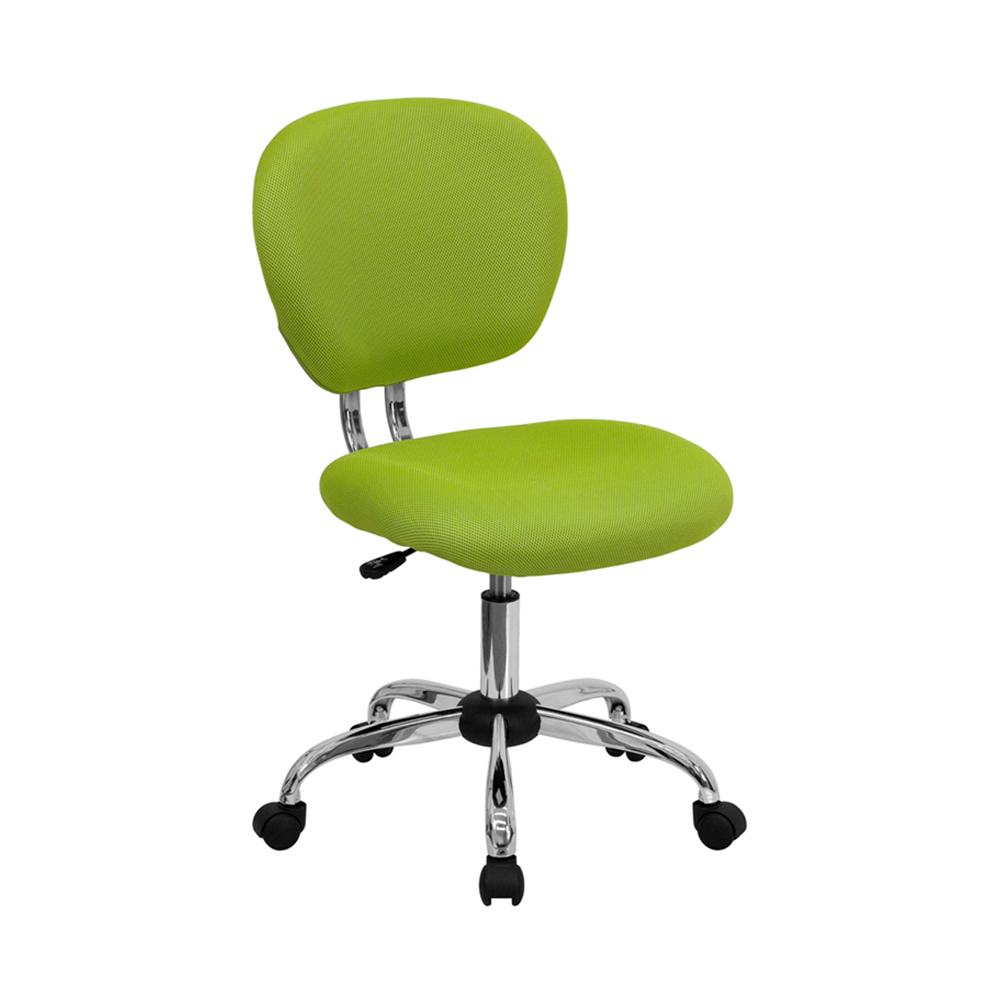 Offex Mid-back Apple Green Mesh Task Chair with Chrome Base