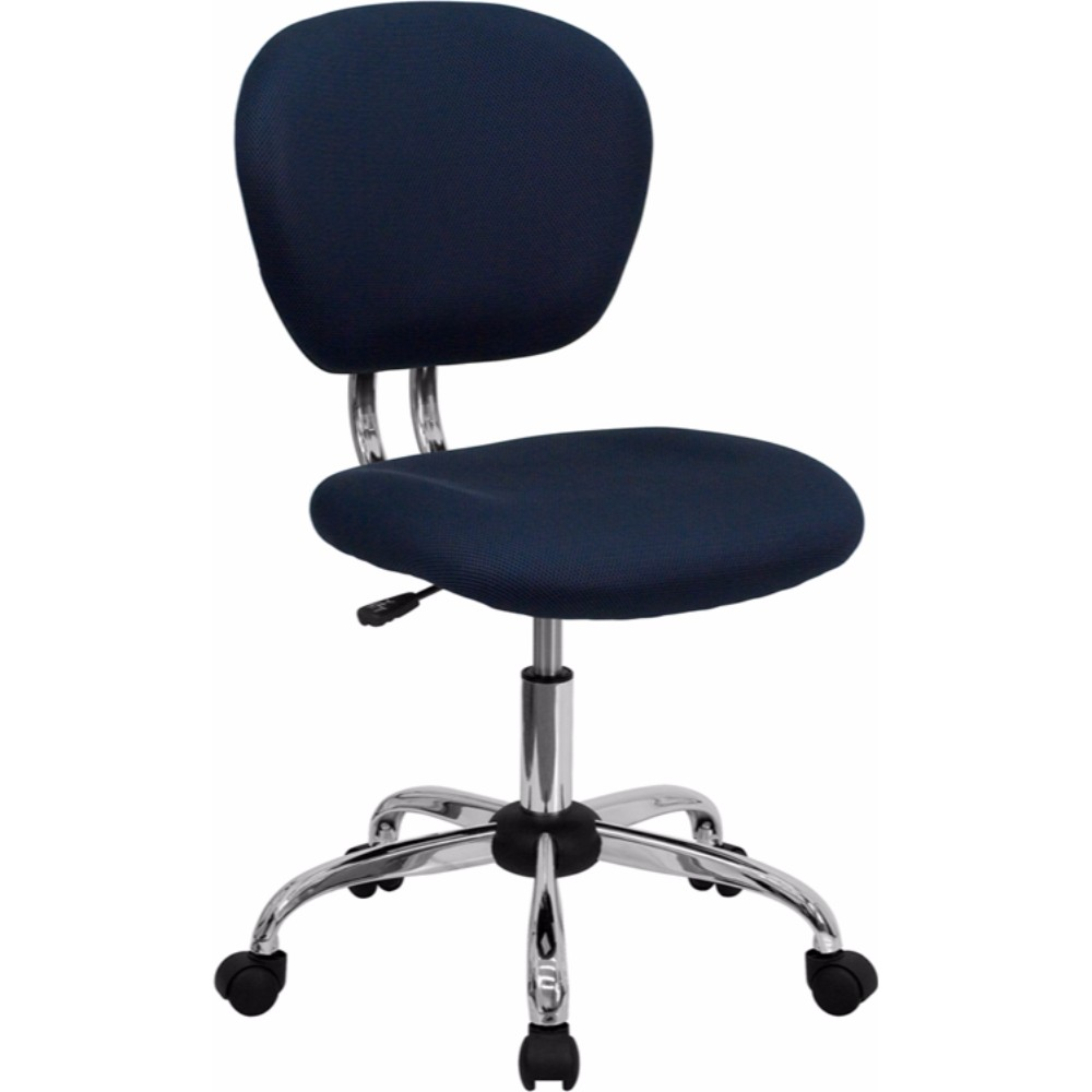 Offex Mid-back Navy Mesh Task Chair with Chrome Base