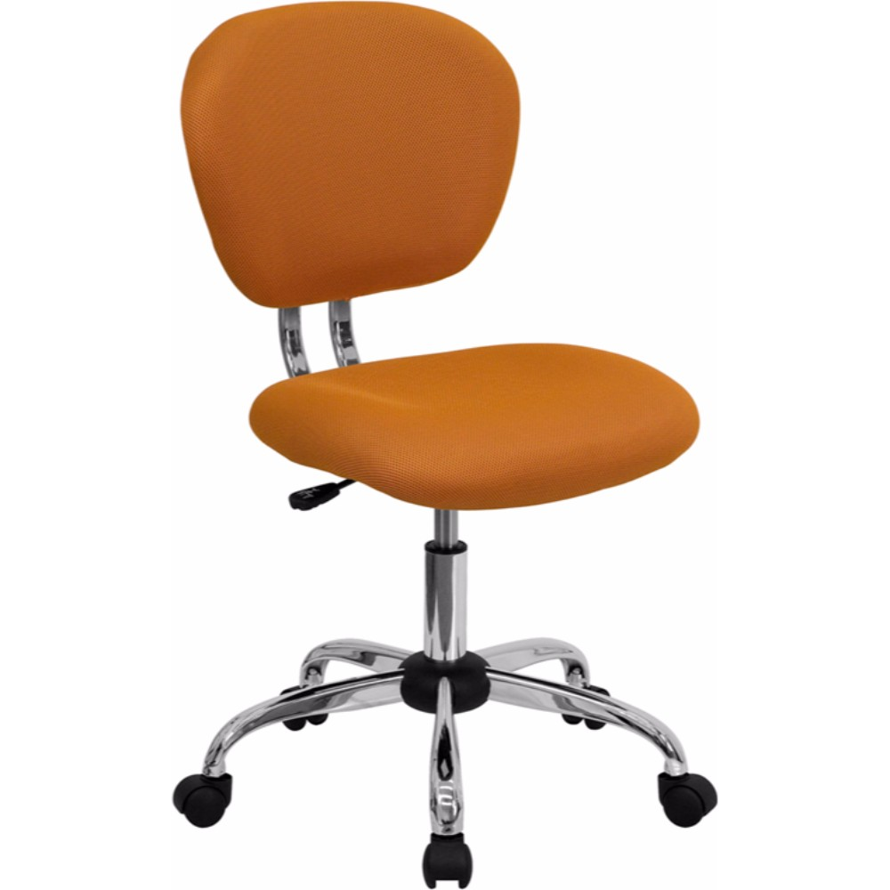 Offex Mid-back Orange Mesh Task Chair with Chrome Base
