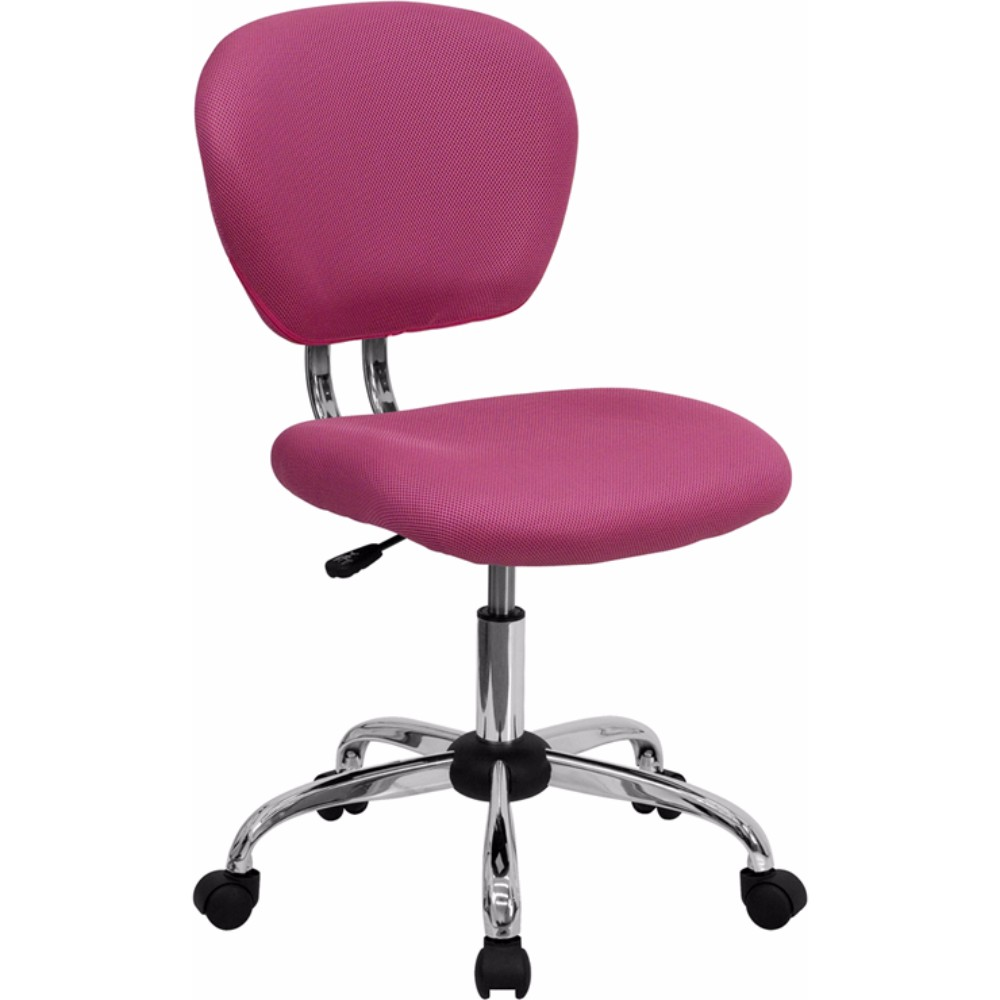 Offex Mid-back Pink Mesh Task Chair with Chrome Base