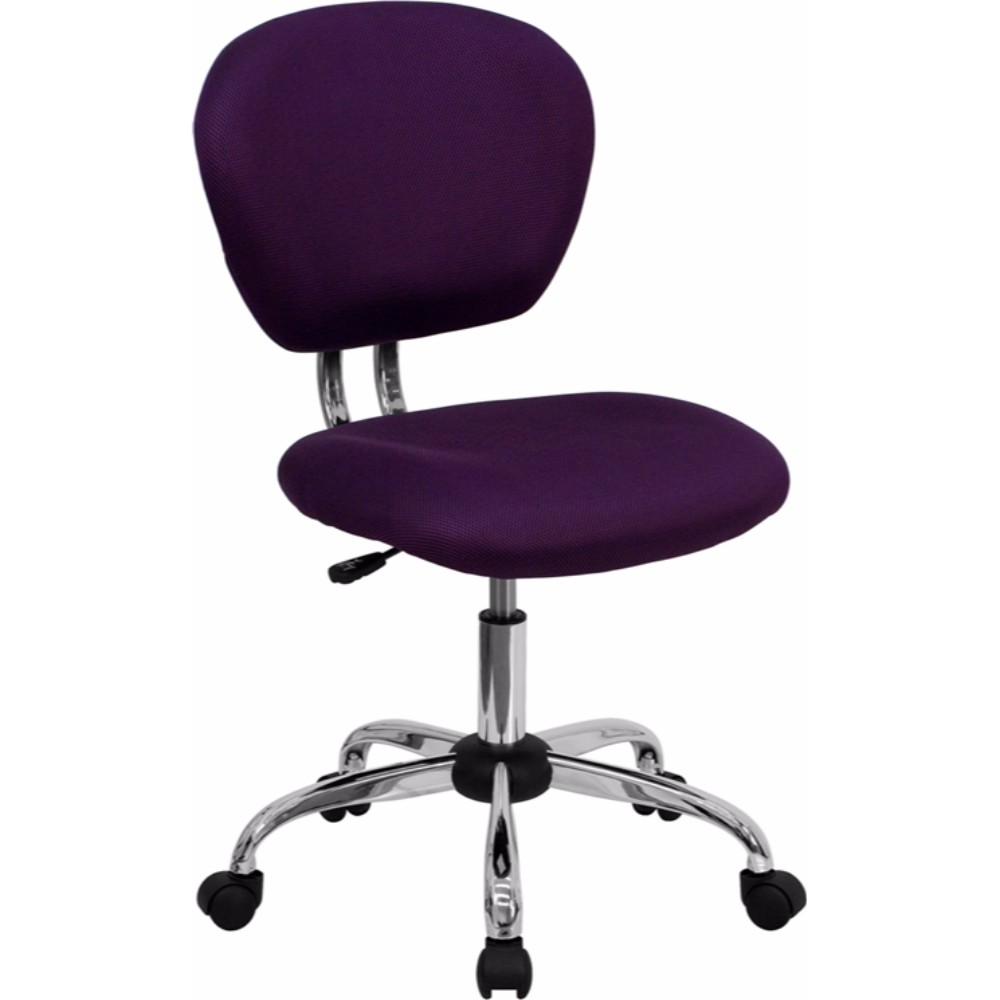 Offex Mid-back Purple Mesh Task Chair with Chrome Base
