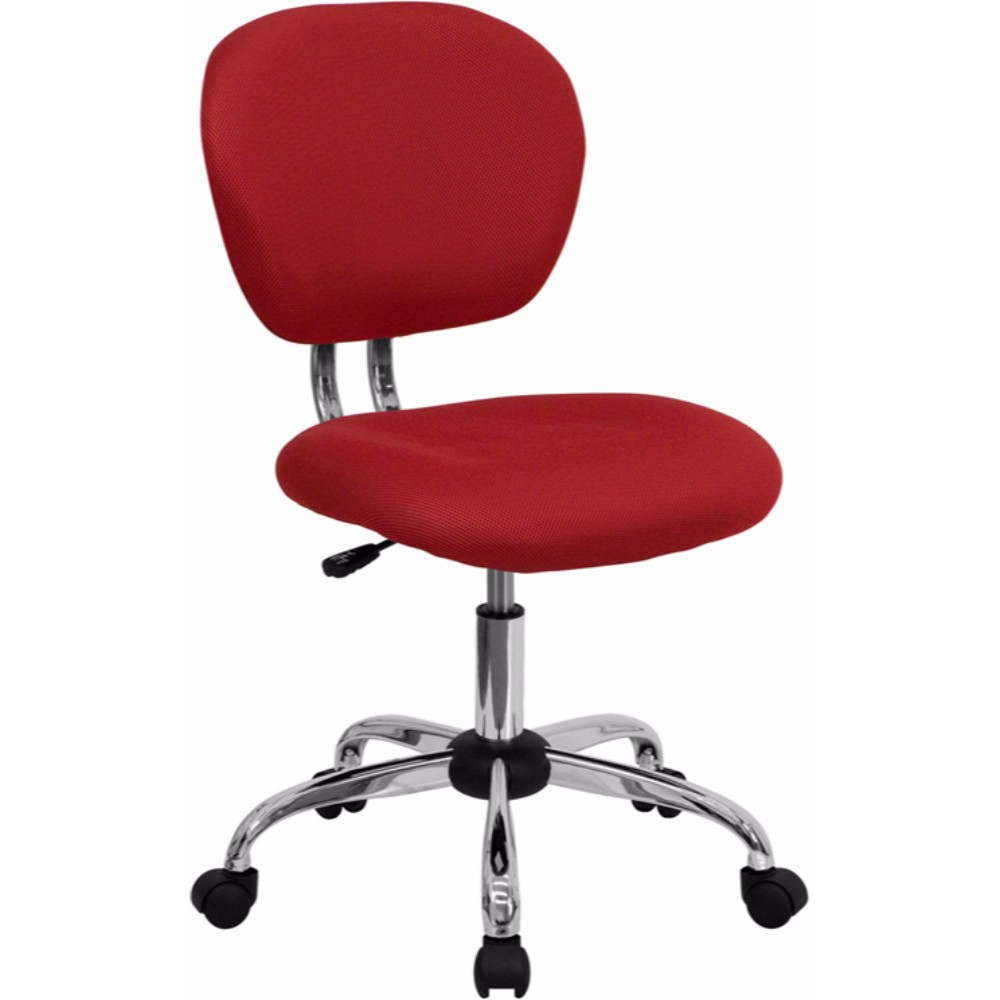 Offex Mid-back Red Mesh Task Chair with Chrome Base