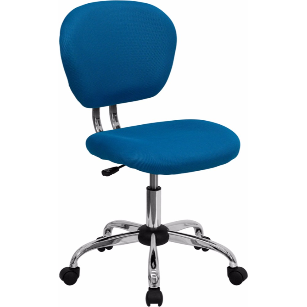 Offex Mid-back Turquoise Mesh Task Chair with Chrome Base
