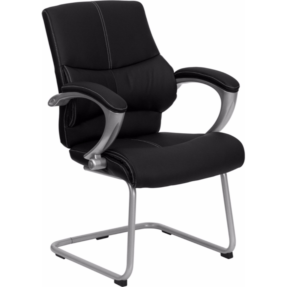 Offex Black Leather Executive Side Chair