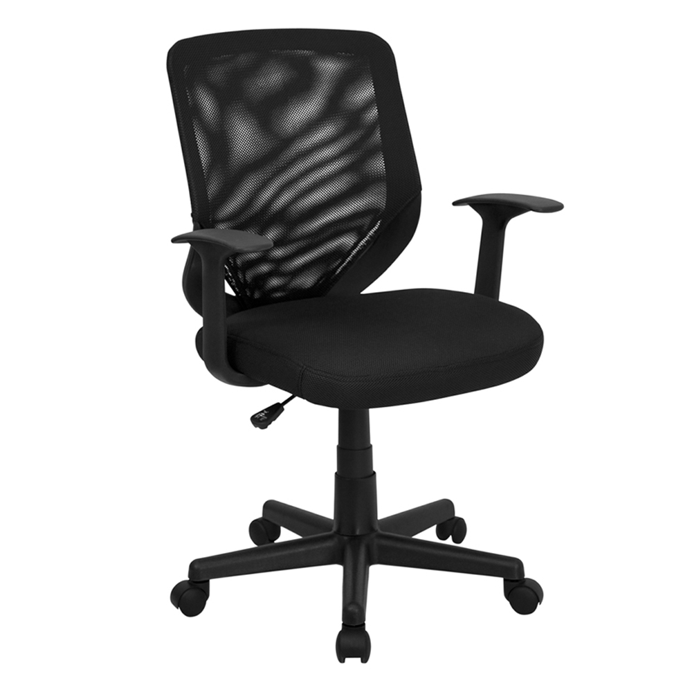 Offex Mid-Back Black Mesh Office Chair with Mesh Fabric Seat