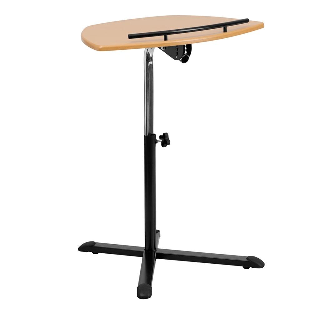 Offex OF-NAN-LT-04-GG Height Adjustable Natural Laptop Computer Desk