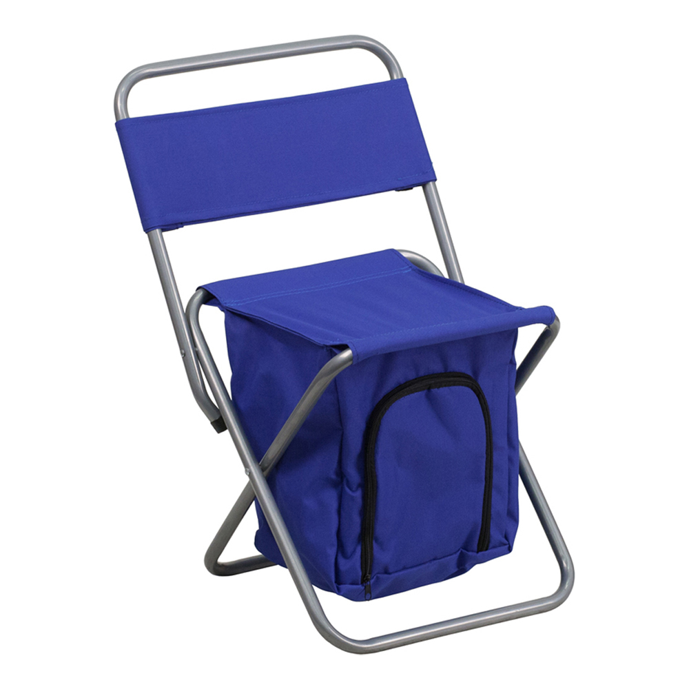 Offex Folding Camping Chair with Insulated Storage in Blue
