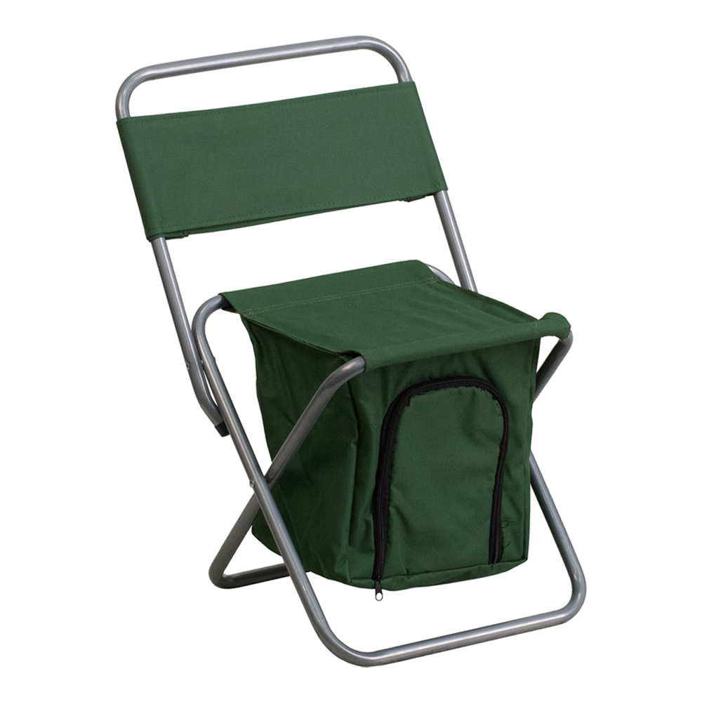 Offex Folding Camping Chair with Insulated Storage in Green