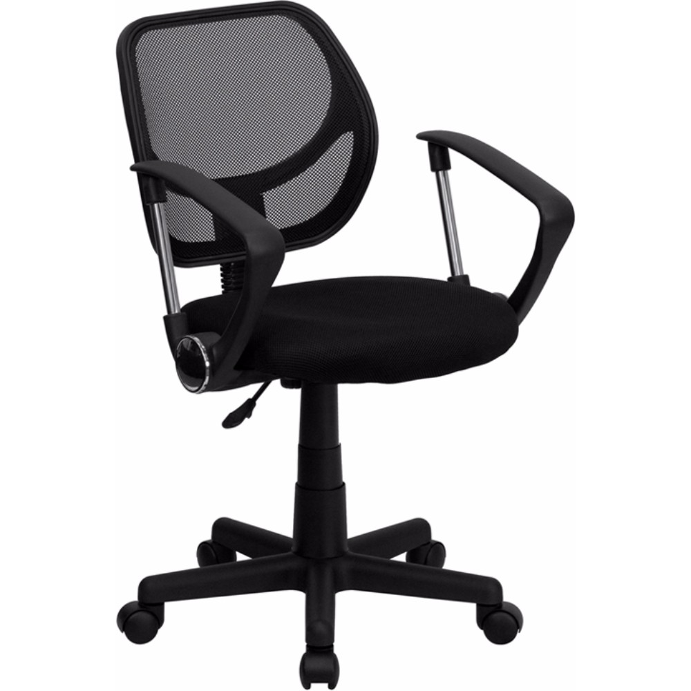 Offex Mid-back Black Mesh Task Chair and Computer Chair with Arms