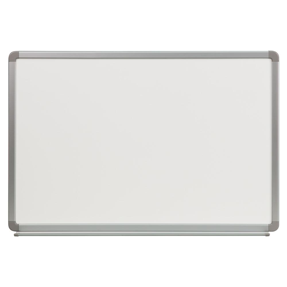 Offex 3' W x 2' H Porcelain Magnetic Marker Board YU-60X90-POR-GG