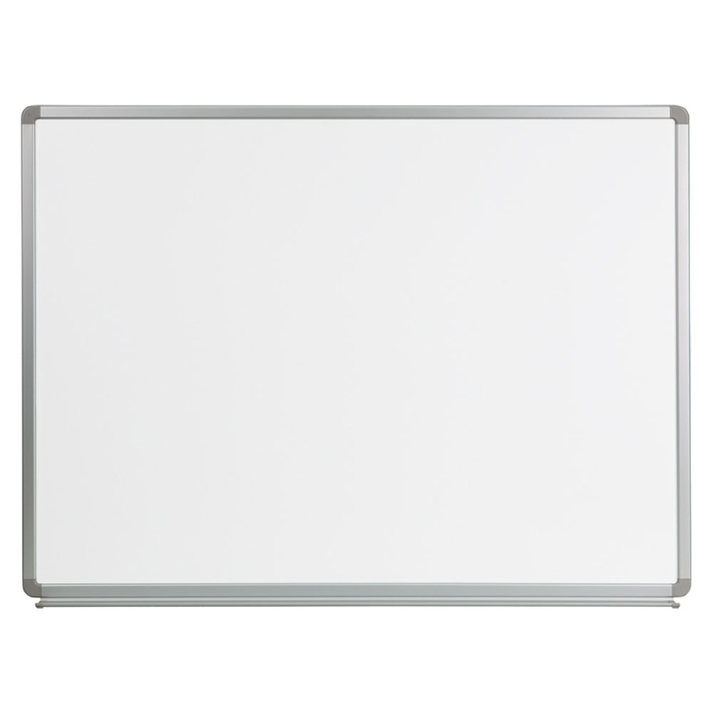 Offex 4' W x 3' H Magnetic Marker Board YU-90X120-WHITE-GG