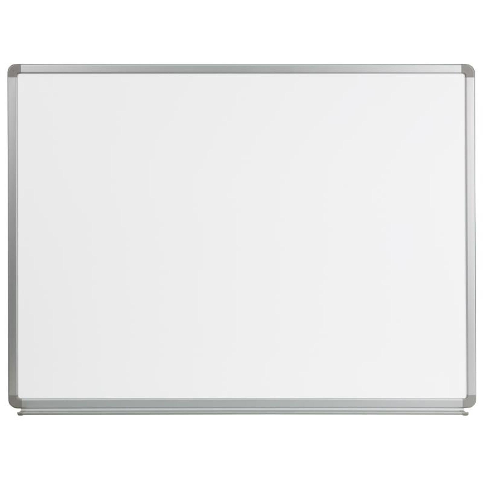 Offex 4' W x 3' H Magnetic Marker Board YU-90X120-WHITE-GG
