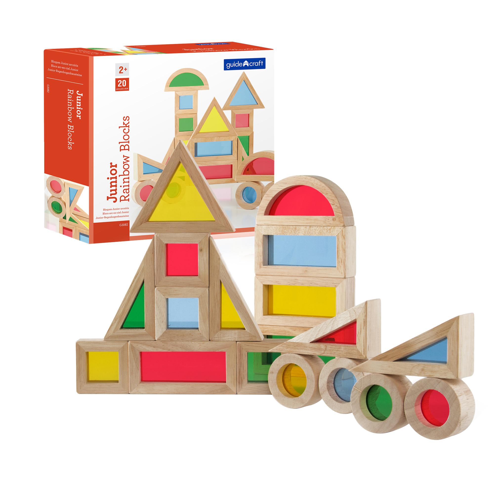 GuideCraft Kids Jr. Rainbow Blocks Activity Play Building Set 20 Piece at Sears.com