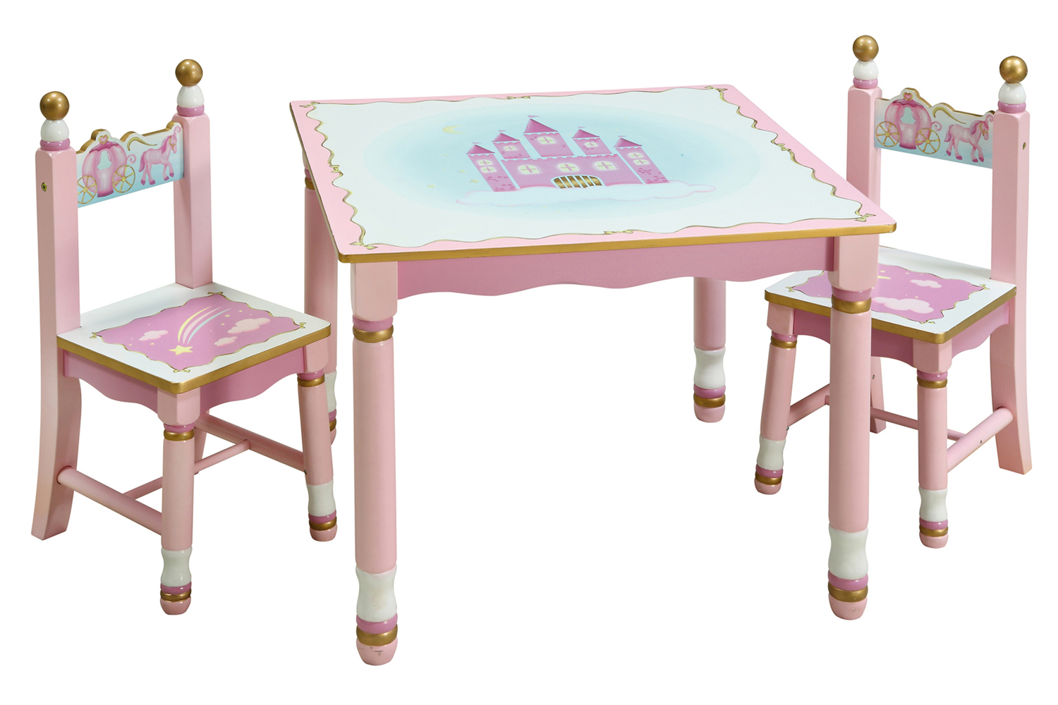 Guidecraft preschool princess girl kids pink play table for Table and chair set