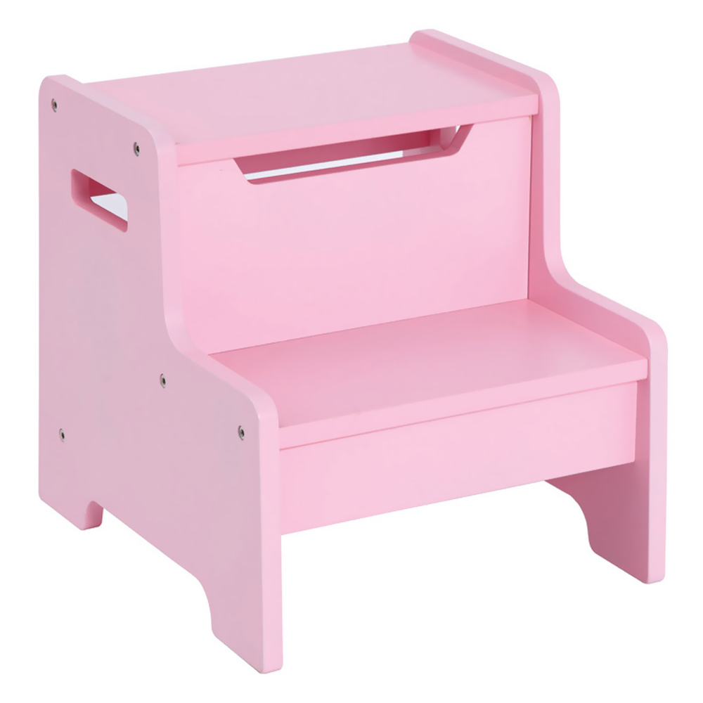 Guidecraft Home Kids Expressions Step Stool: Pink