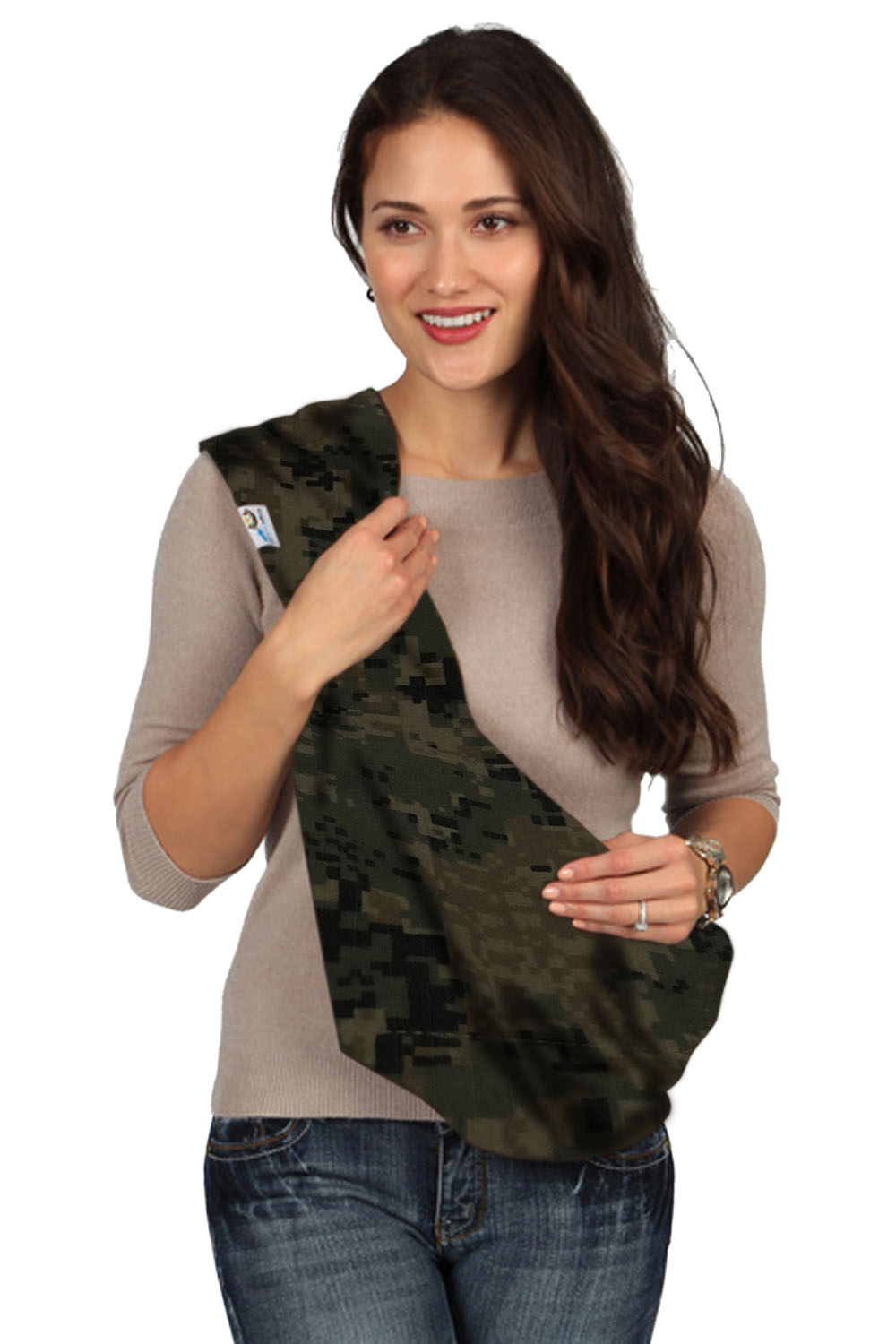 HugaMonkey Camouflage Dark Green Military Baby Sling - Small