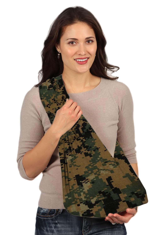 HugaMonkey Camouflage Green & Black Military Baby Sling - Large