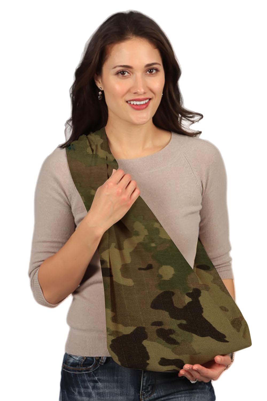 HugaMonkey Camouflage Light Green Military Baby Sling - Large