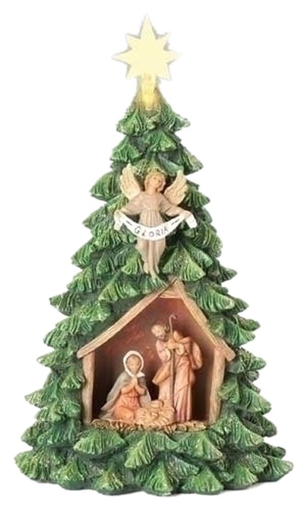 "Iwgac Home Decorative Season Christmas Gift Collectible 10"" Led Xmas Tree with Hf and Gloria at Sears.com"