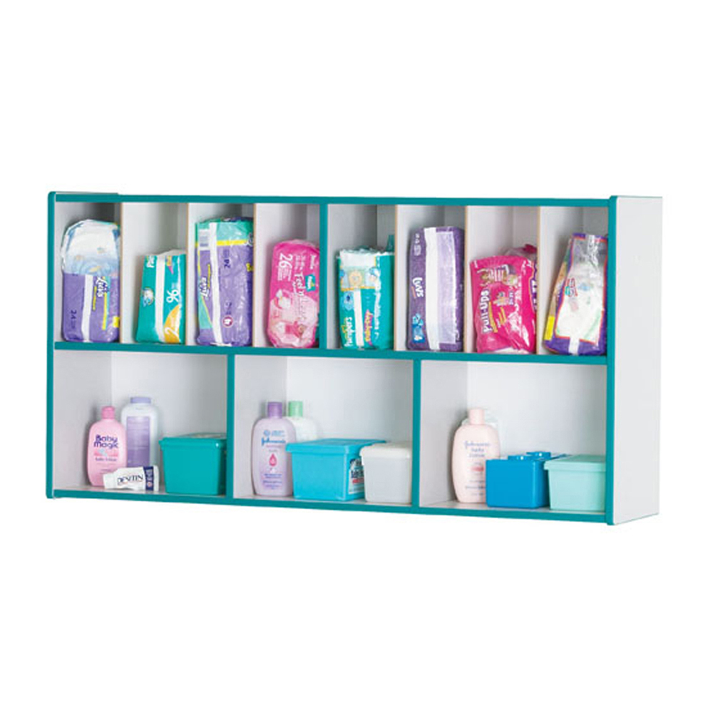 Offex Nursery Storage Wall Mount Diaper Organizer - Green