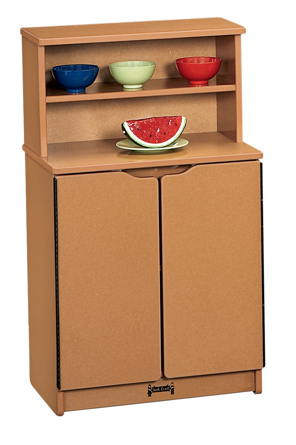 Jonti-Craft Sproutz Kids Play Room Wooden Kitchen Double Door Cabinet Cupboard With Storage Shelves Caramel at Sears.com
