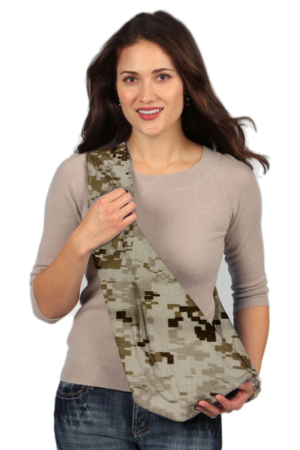 Karma Baby Brown Military Camouflage Baby Sling - Extra Large