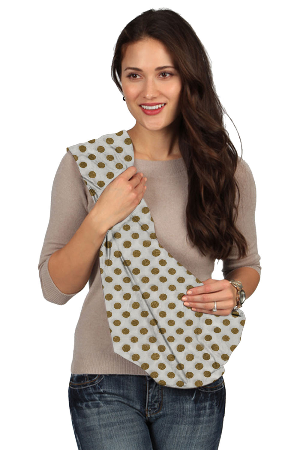 Karma Baby White with Golden Dot Baby Sling - Small