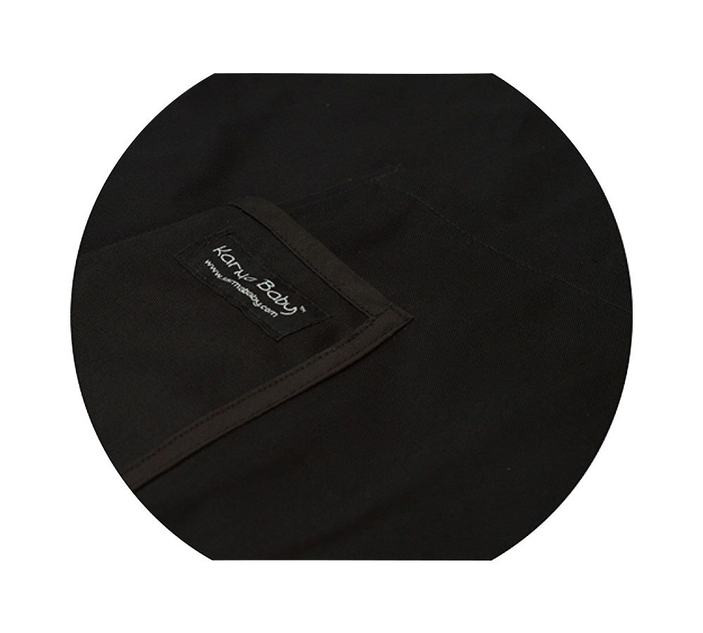 Organic Black Baby Sling - Large