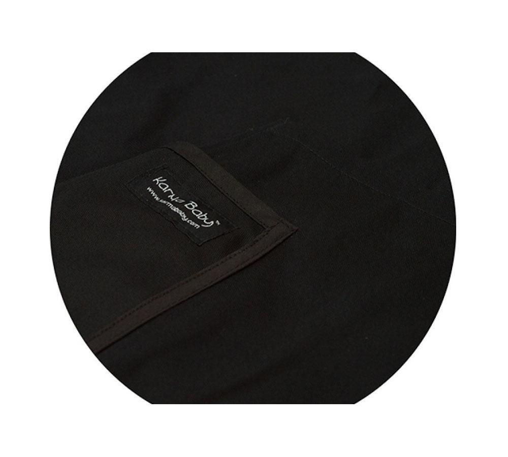 Organic Black Baby Sling - Medium