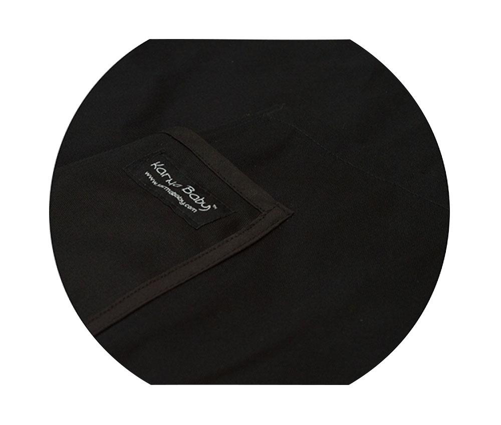 Organic Black Baby Sling - Xlarge