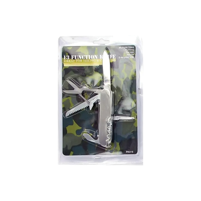 bulk buys 13 Function Pocket Tool Knife With Key Ring Metal Pack Of 24 at Sears.com