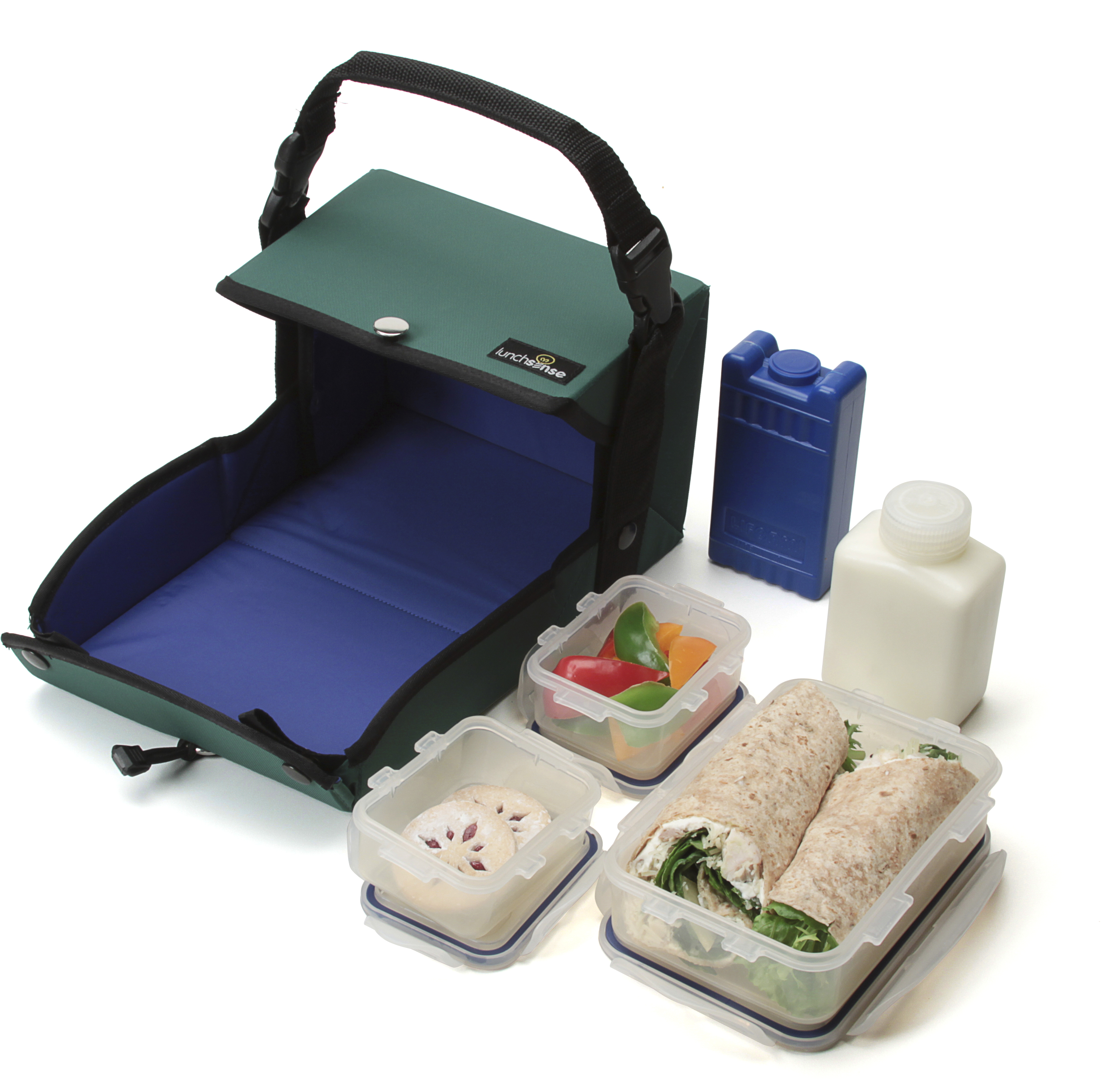 LunchSense Large Lunch Box W/ Food Storage Container Sets - Forest at Sears.com