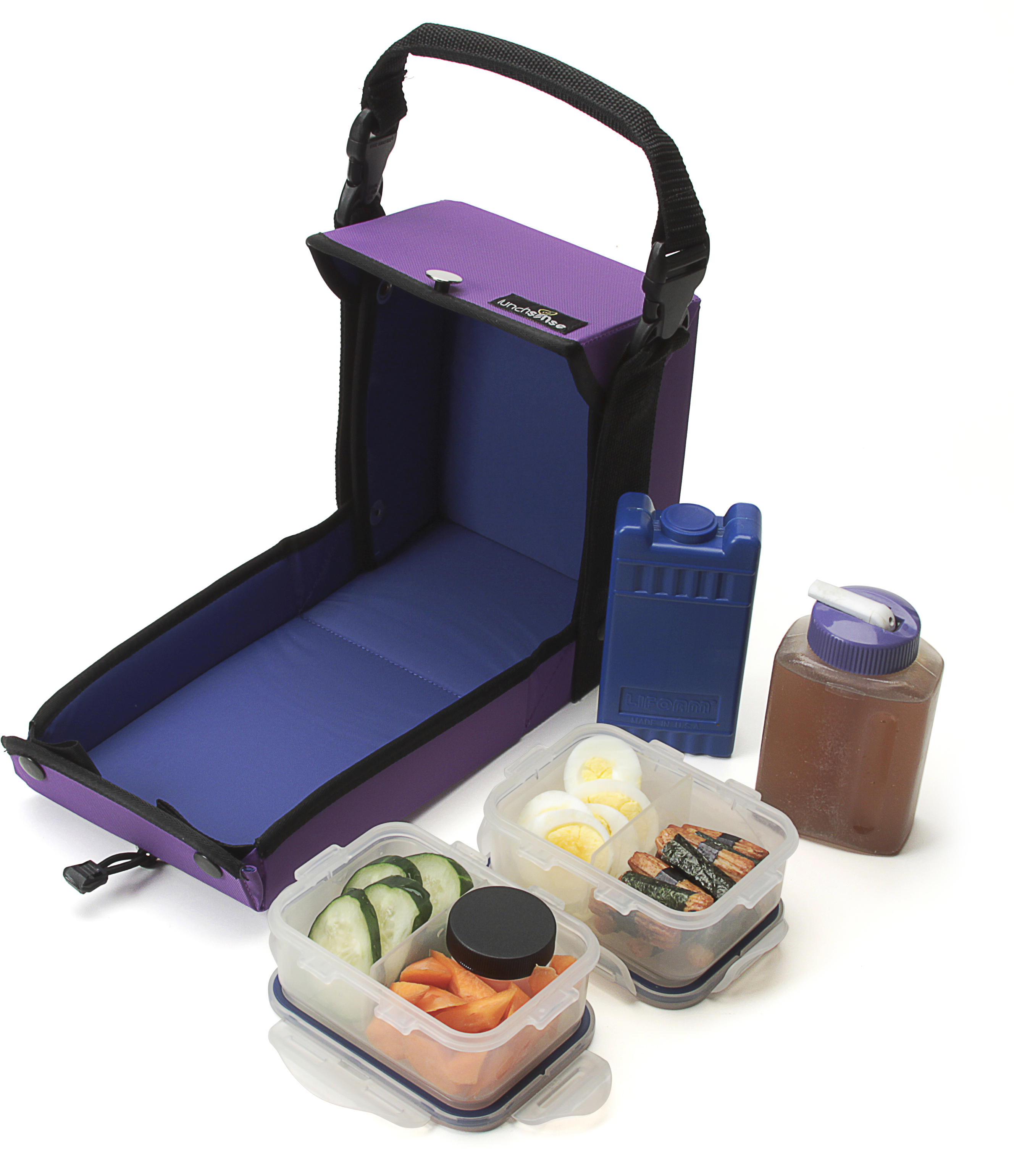 LunchSense Large Lunch Box W/ Food Storage Container Sets - Purple at Sears.com