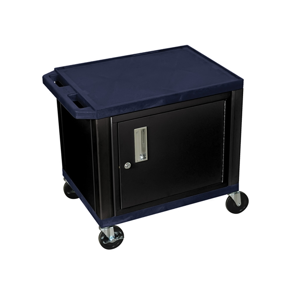 H. Wilson Portable Mobile Multipurpose Kitchen Storage Service Tuffy Utility Cart With Cabinet Topaz and Black at Sears.com