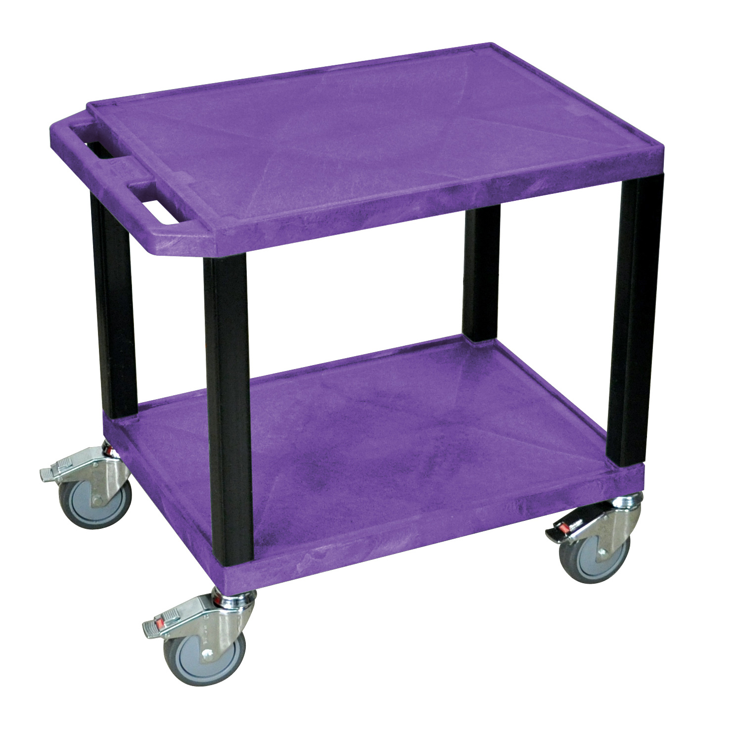 H. Wilson Tuffy Movable Multipurpose Home Office AV Presentation Utility Cart With Chrome Casters Purple and Black at Sears.com