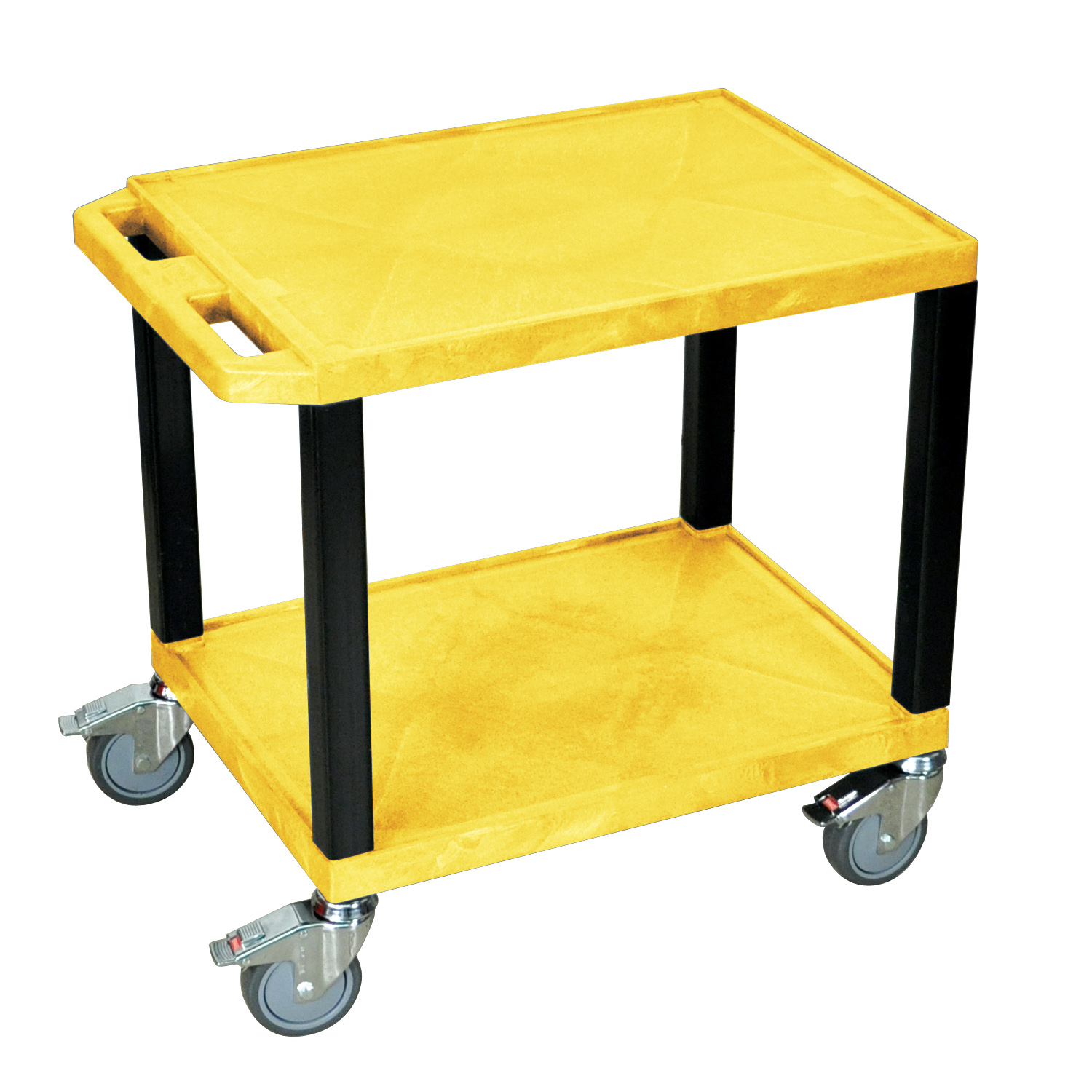 H. Wilson Movable Utility Cart With Chrome Casters Yellow and Black at Sears.com