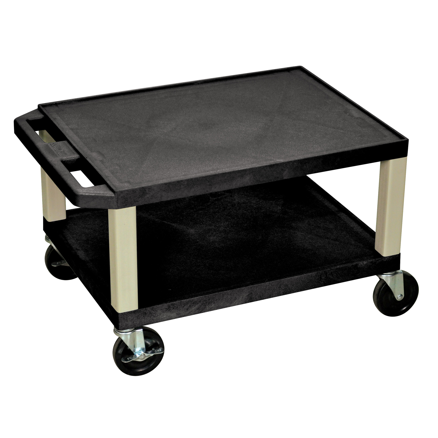H.Wilson Mobile Portable Metal Presentation Lectern Podium Rolling Cart With Privacy Panel Black