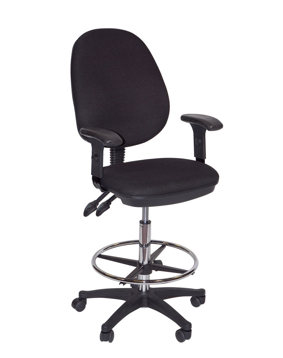 Offex Grandeur Manager's Height Adjustable Drafting / Work High Chair With Casters