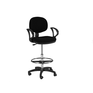 Offex Stanford Home / Office Drafting Height Seating Chair Furniture With Casters in black