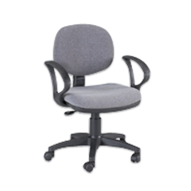 Offex Stanford Desk Height Adjustable Multi-Functional Ergonomic Home / Office Chair with arms and casters in Gray