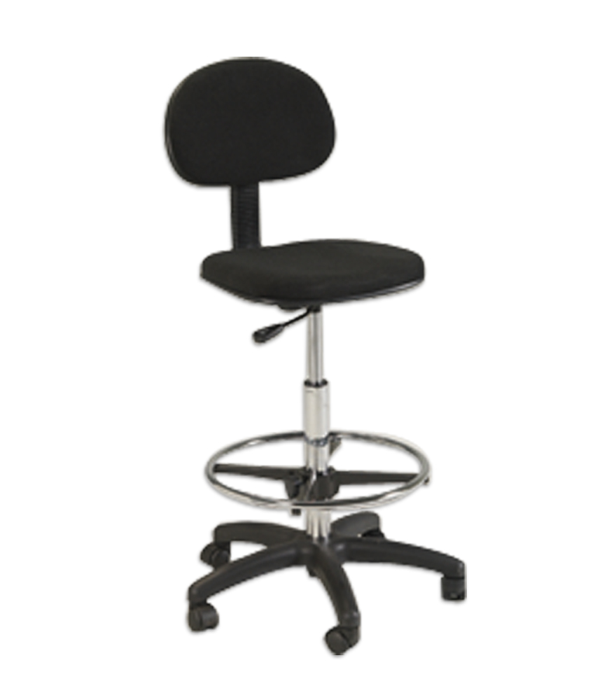 Offex Stiletto Home / Office Drafting Height Chair Seating Chair Furniture With Casters in Black