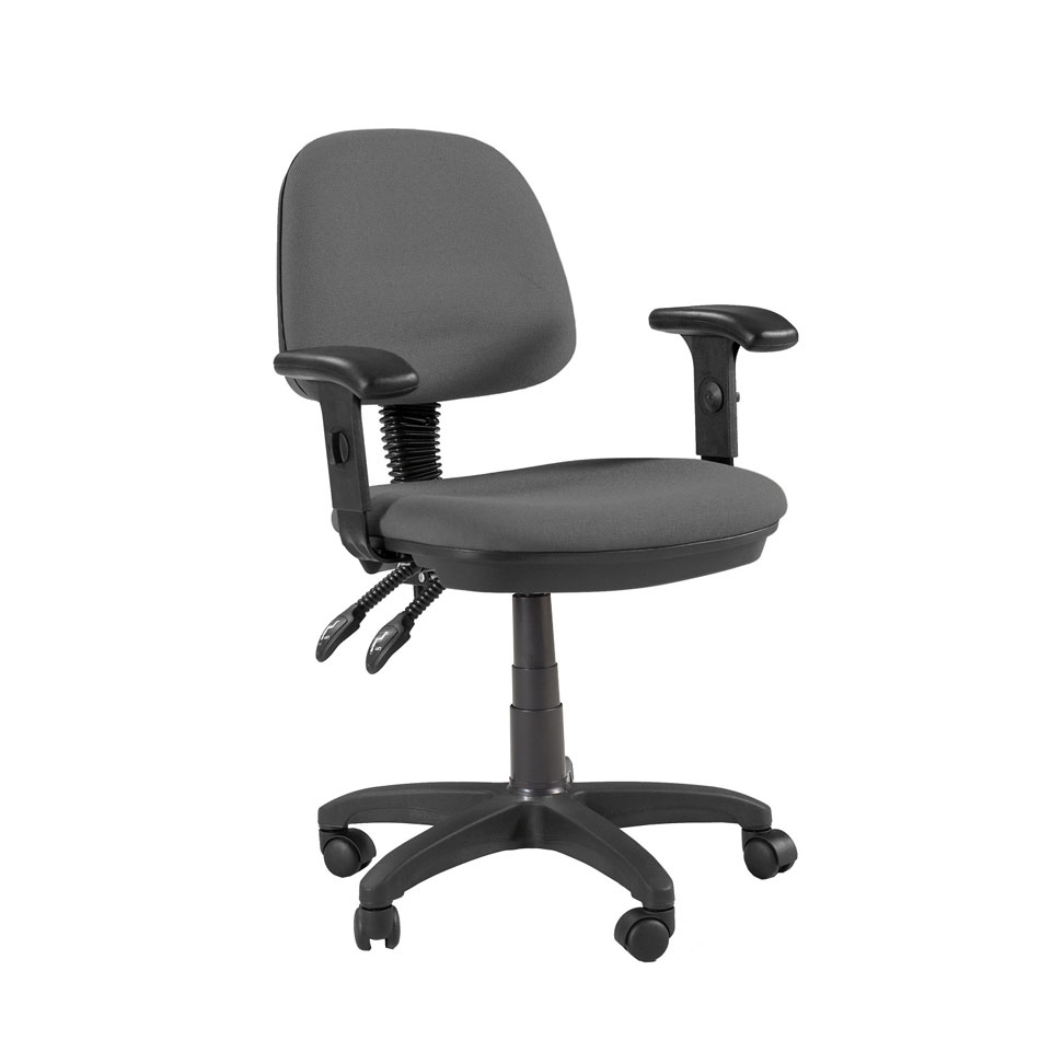 Offex Feng Shui Desk Height Adjustable Multi-Functional Ergonomic Home / Office Chair with arms and casters in Gray