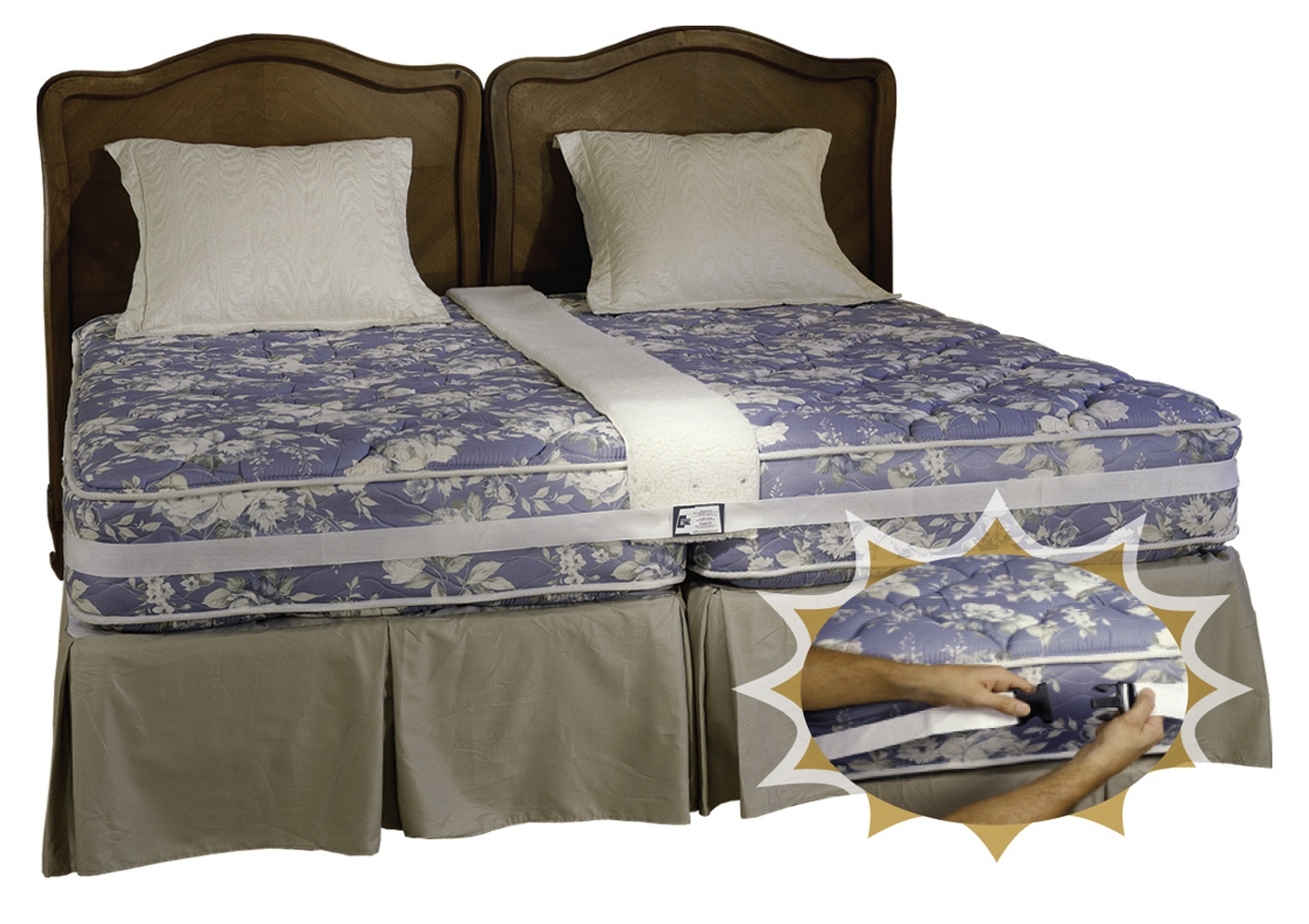 create a king bed combine two twin beds into a secure