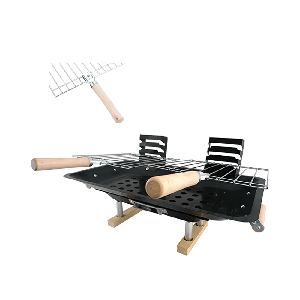 PremiumConnection Premium Connection Home Outdoor Party Supplies Deluxe Hibachi Bbq Grill 1215-060-DHG