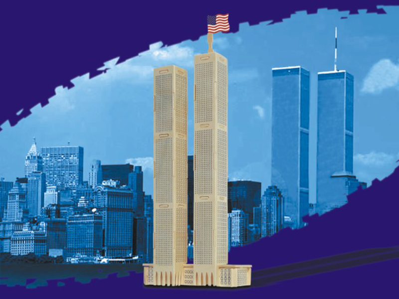 Puzzled World Trade Center Sm 3D Natural Wood Puzzle