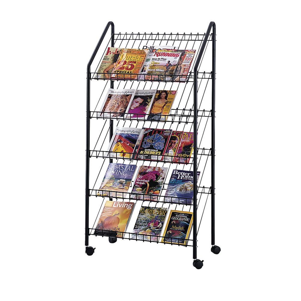Safco Mobile Office Reception Brochure Rack Wire Literature Display Charcoal at Sears.com