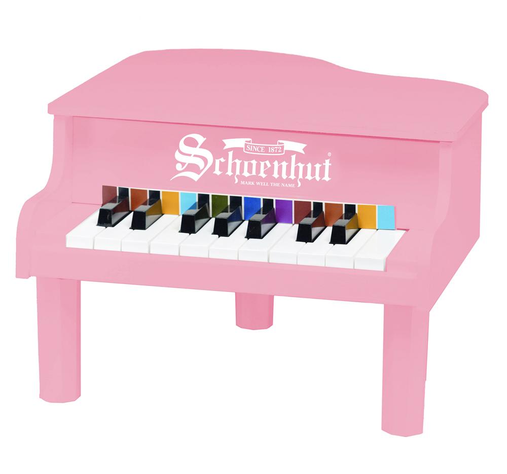 Schoenhut Piano Company Inc Kids Children Musical Instrument 18 Key Mini Baby Grand Piano Play Toy Pink at Sears.com
