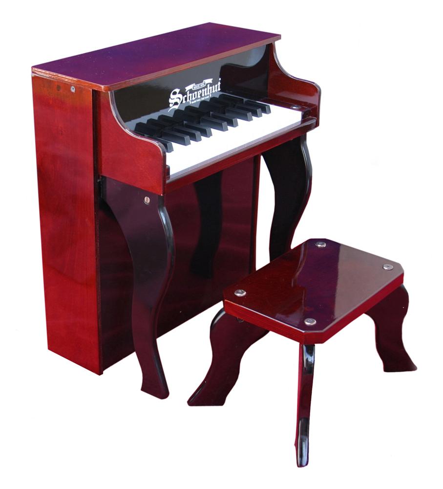 Schoenhut Piano Company Inc Kids Child Musical Instrument 25 Key Elite Spinet Piano Play Toy Mahogany/Black at Sears.com